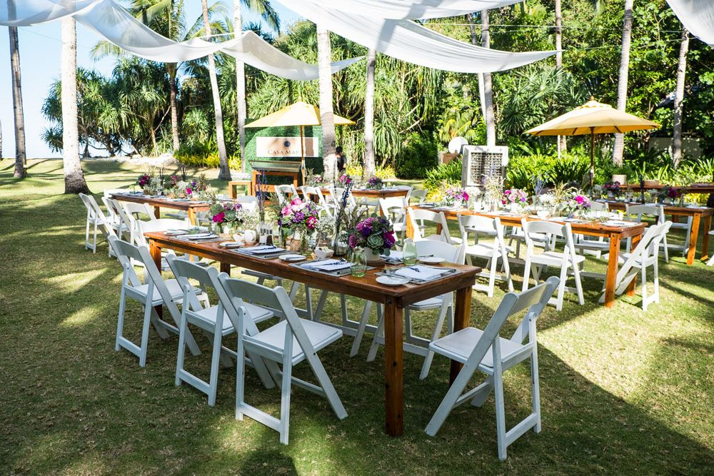 The verdant lawn was the perfect setting for the champagne brunch of Reservations In Paradise (Photo Courtesy of Shangri-La)