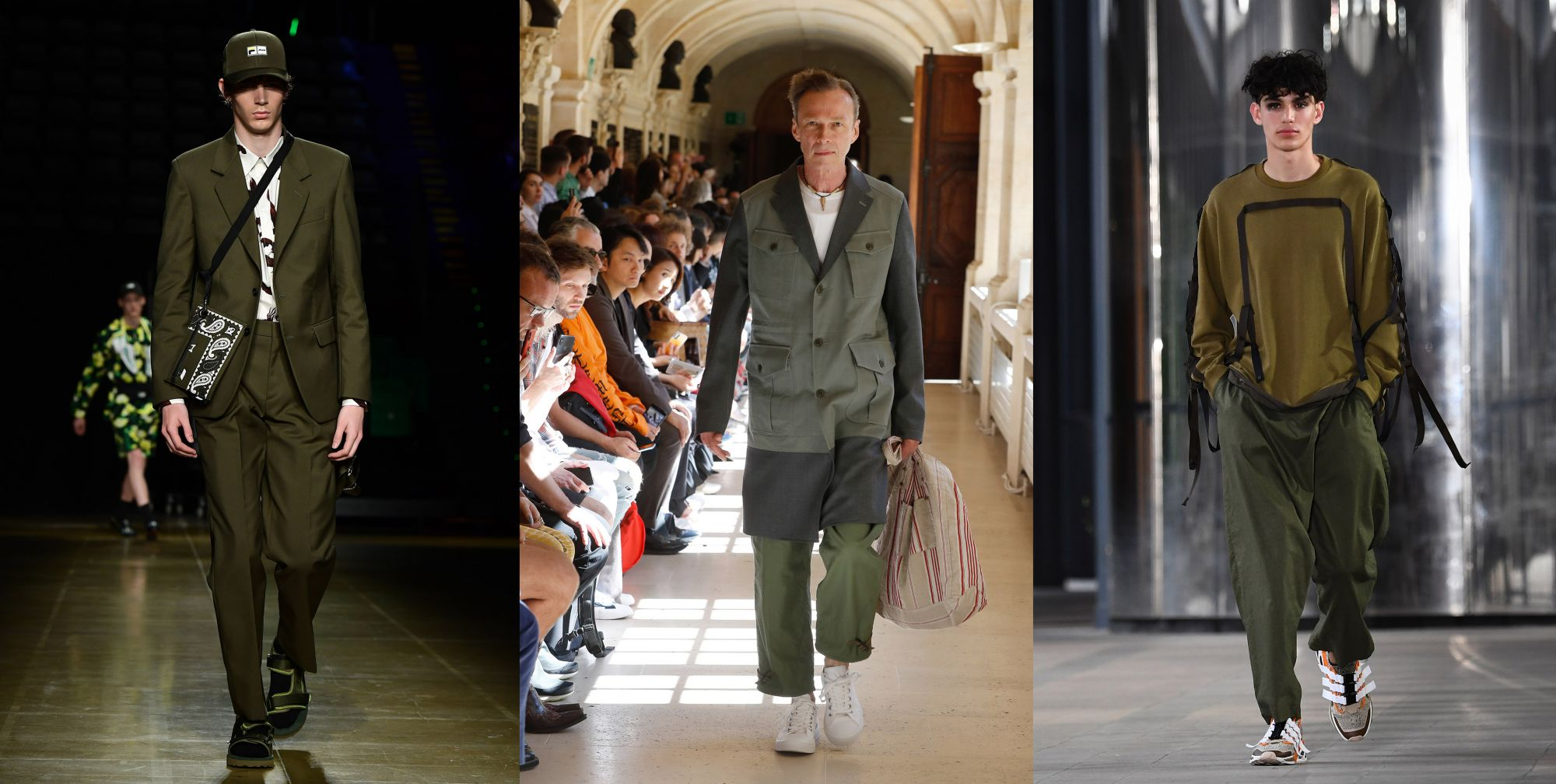 Army green by MSGM, Junya Watanabe Man and White Mountaineering