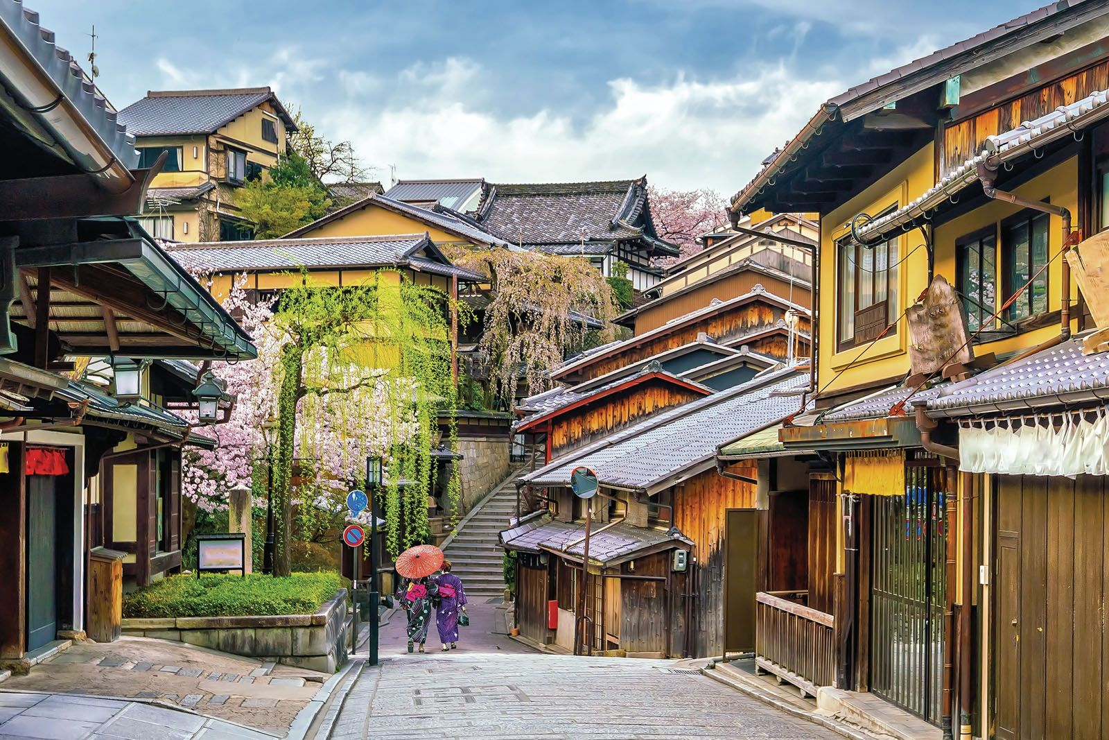 The winding paths leading up to temples as well as the city's backstreets are prime spots for a quintessential photograph of Kyoto