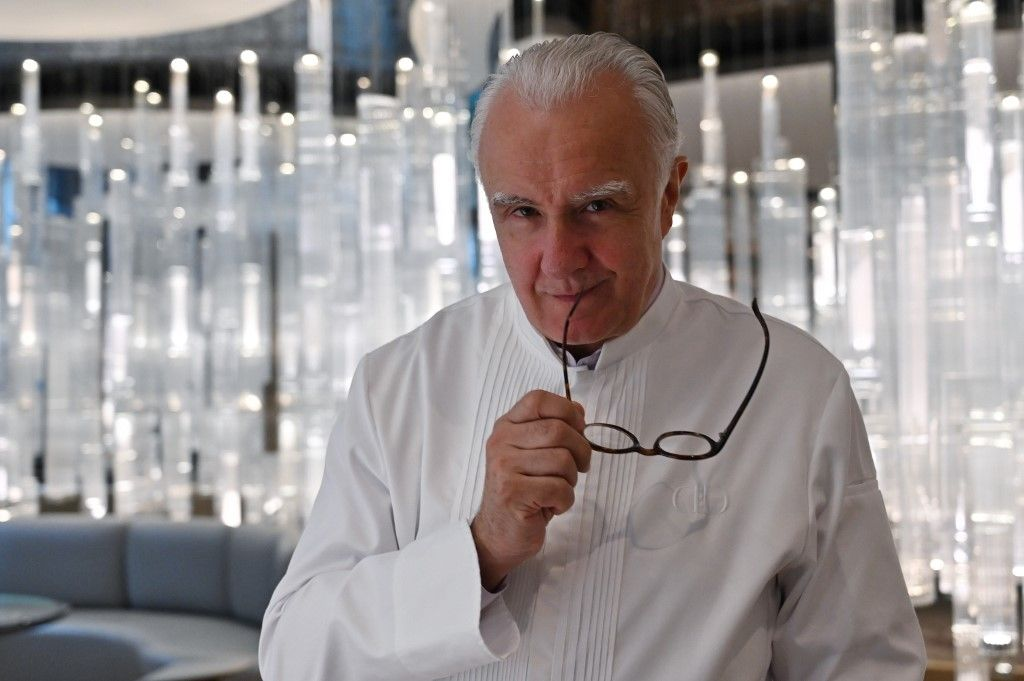 This picture taken on June 18, 2019 shows chef Alain Ducasse posing for a picture during an interview with AFP at his restaurant Alain Ducasse at the Morpheus hotel in Macau. - You don't become one of the world's most decorated chefs without obsessing over the details, which is why Alain Ducasse welcomes social media -- it helps him keep a closer eye on his culinary empire. (Photo by Hector RETAMAL / AFP) / TO GO WITH Macau-Asia-lifestyle-restaurant-France-Ducasse, INTERVIEW by Jerome TAYLOR