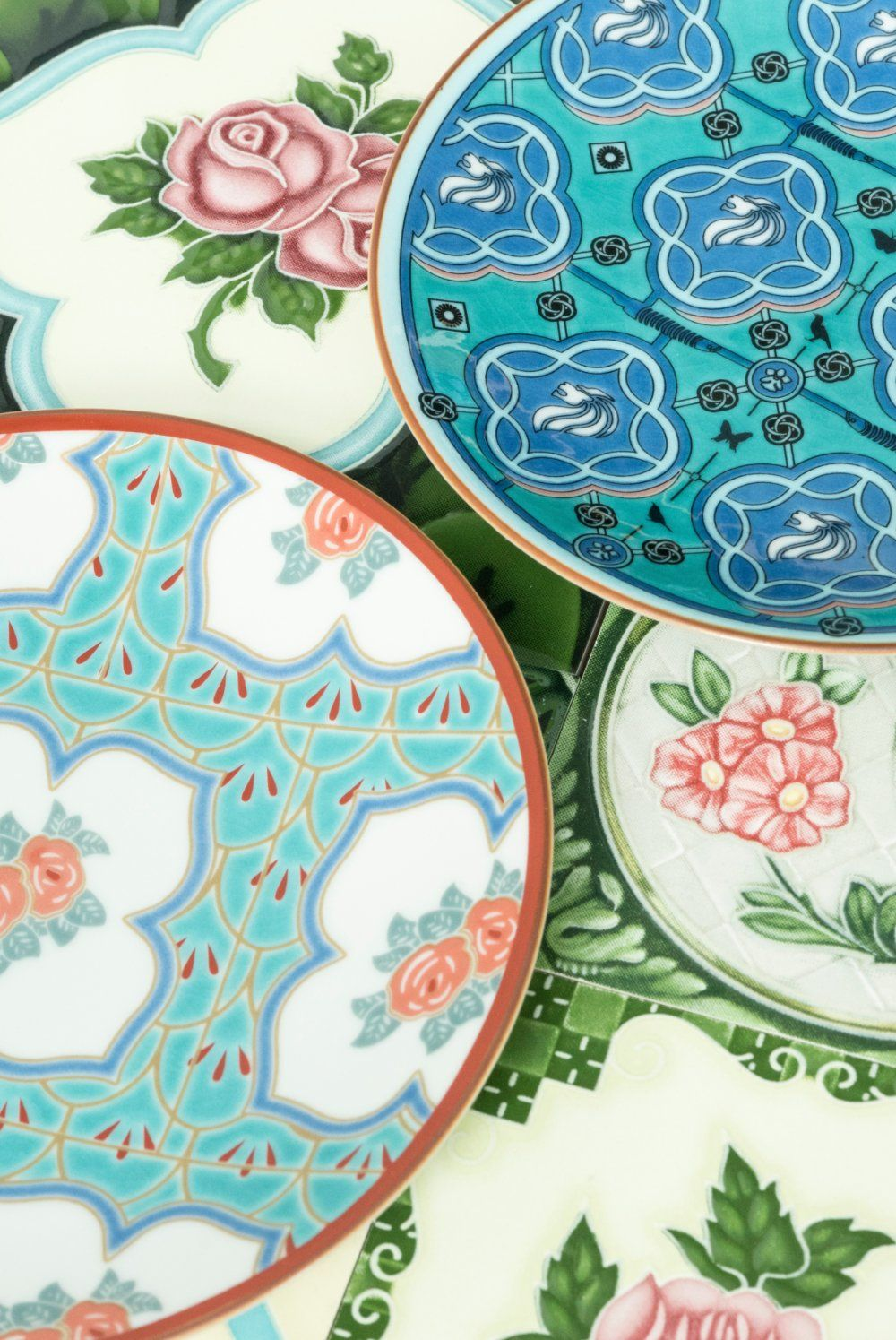 "The Peranakan tile porcelain collection plates, from <a href="" https://supermamastore.com/products/august-promo-the-peranakan-pair-br-2-for-80-br"" target=""blank""> Supermama</a>"