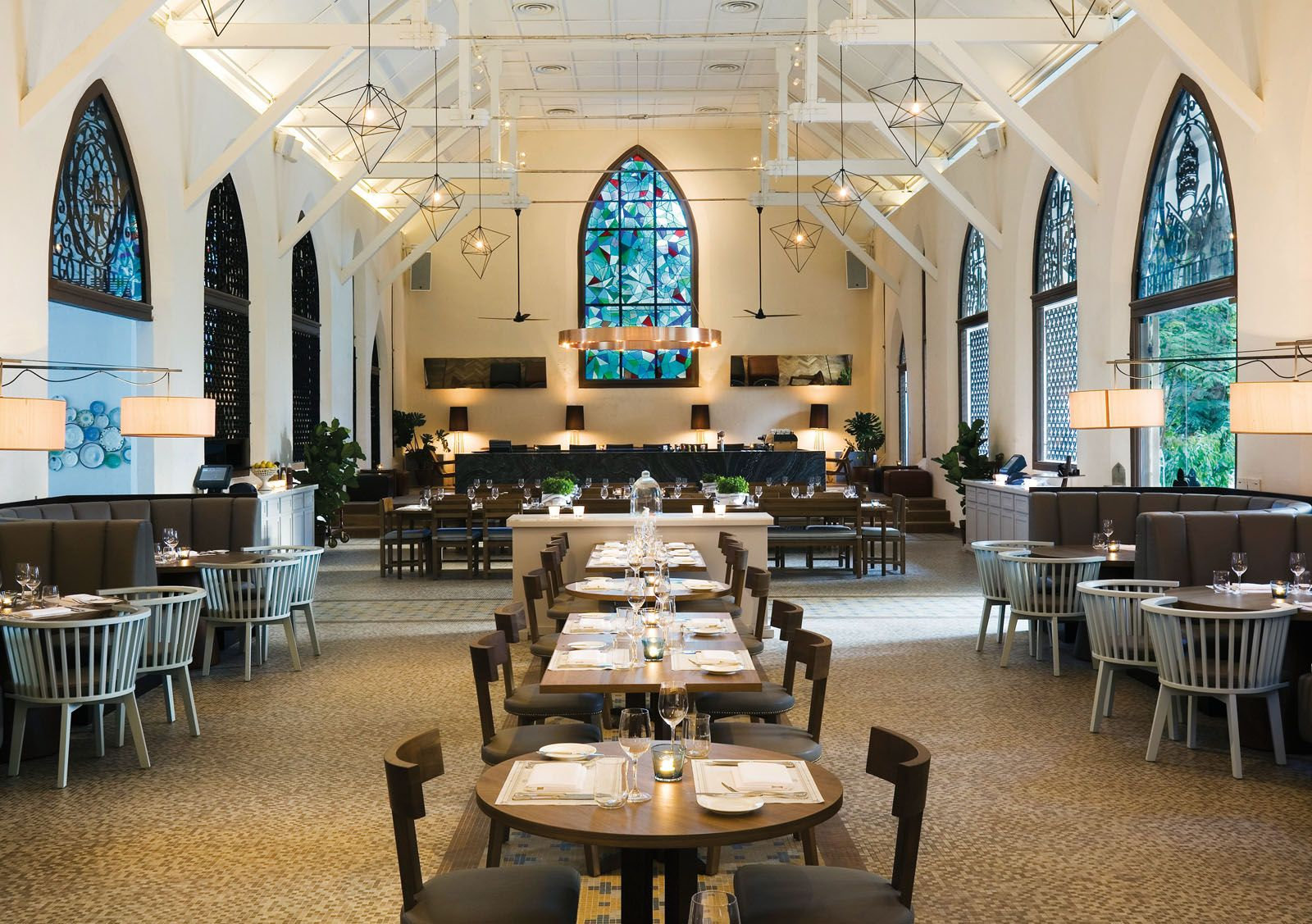 The White Rabbit is a restaurant-bar housed in a former chapel