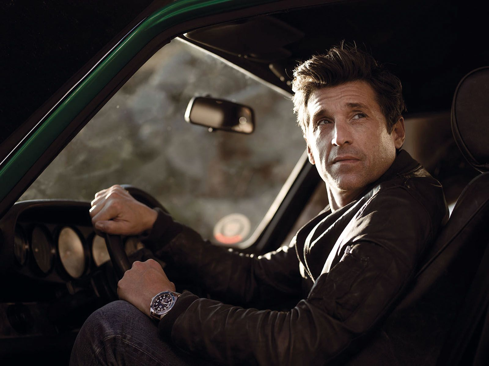 American actor and professional racer Patrick Dempsey, a Tag Heuer friend of the brand, fronts the new Autavia campaign
