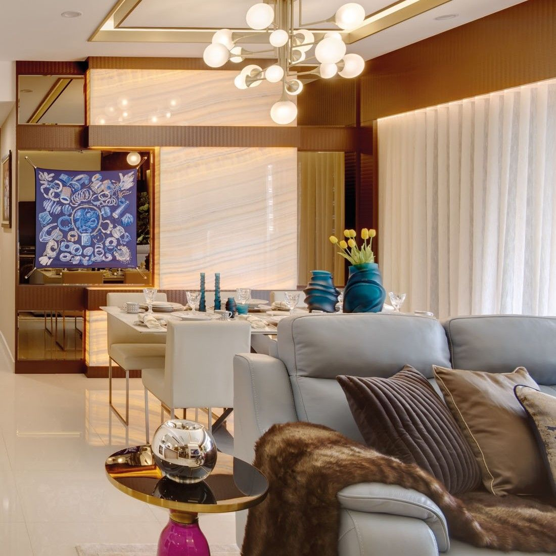 Home Tour: This Fashion-Inspired Apartment Displays The Hermès Scarf As Art