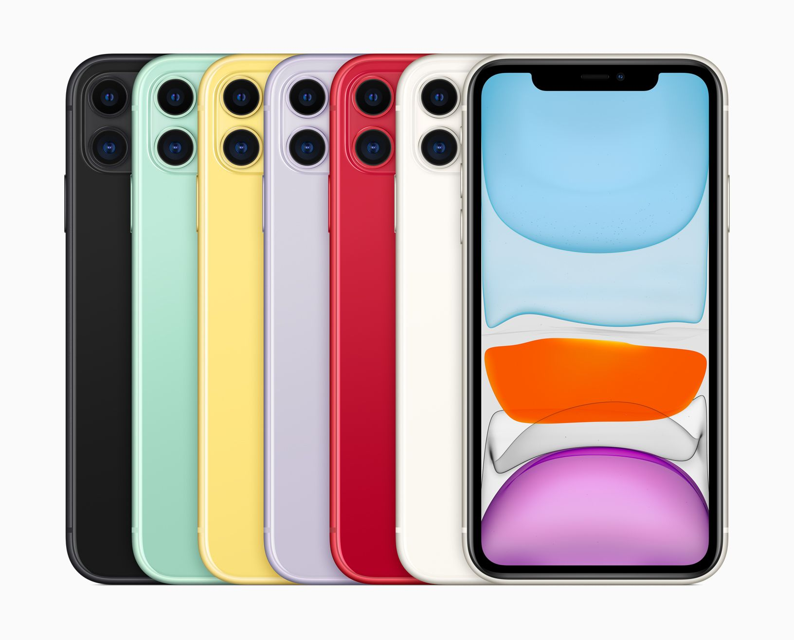 The iPhone 11 will be available in 64GB, 128GB and 256GB models in purple, green, yellow, black, white and PRODUCT(RED) starting at $699.