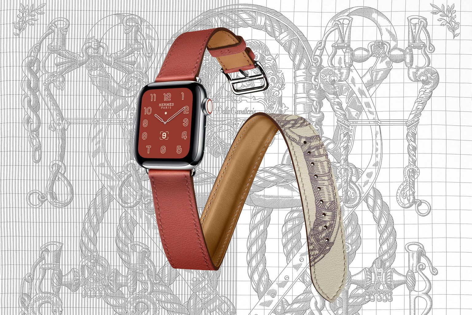 The New Apple Watch Hermès Series 5 Features An Eye-Catching Scarf Design On Its Strap