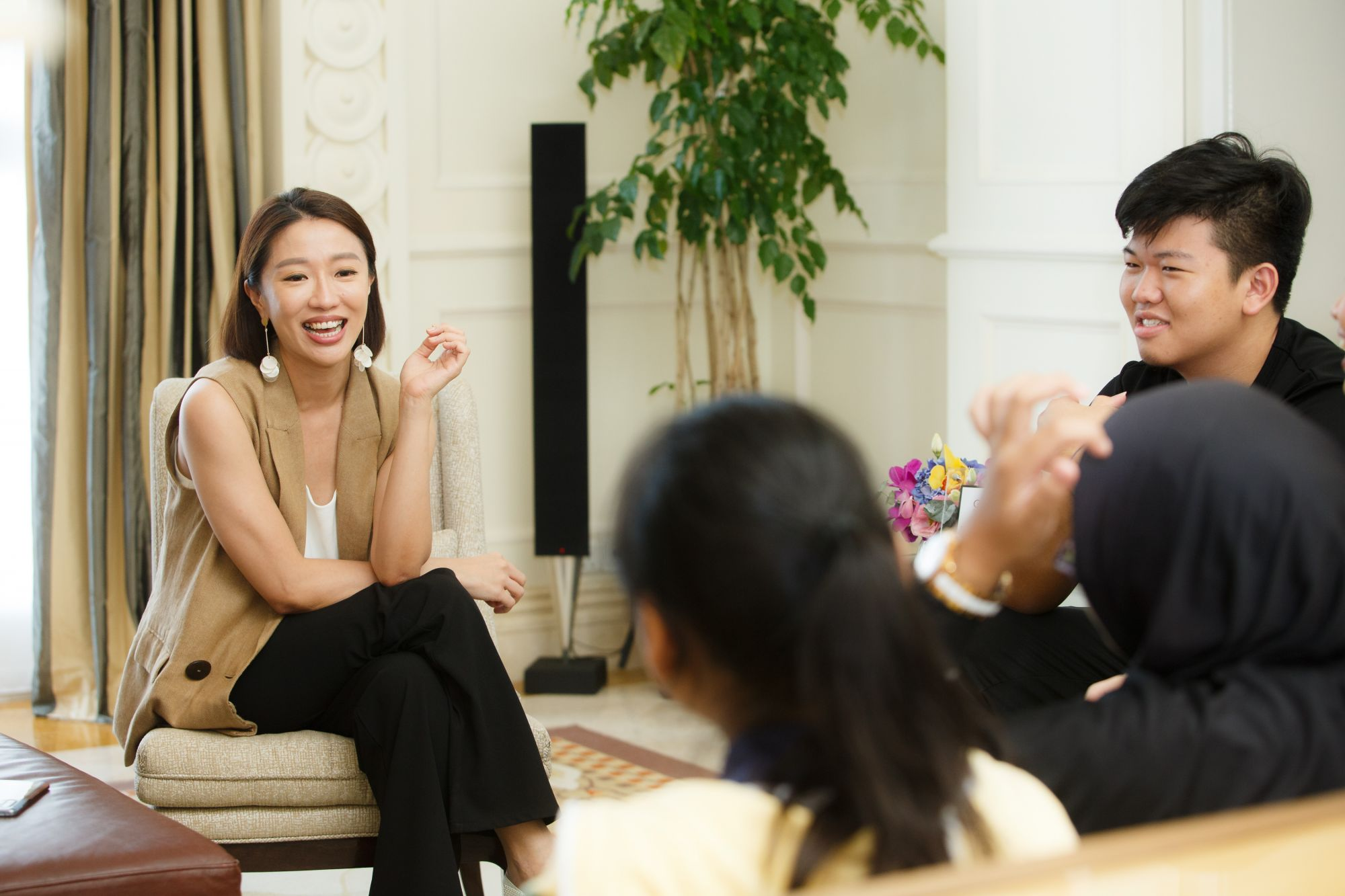 Love, Bonito's Rachel Lim had a productive session with the youths in the Governor Suite