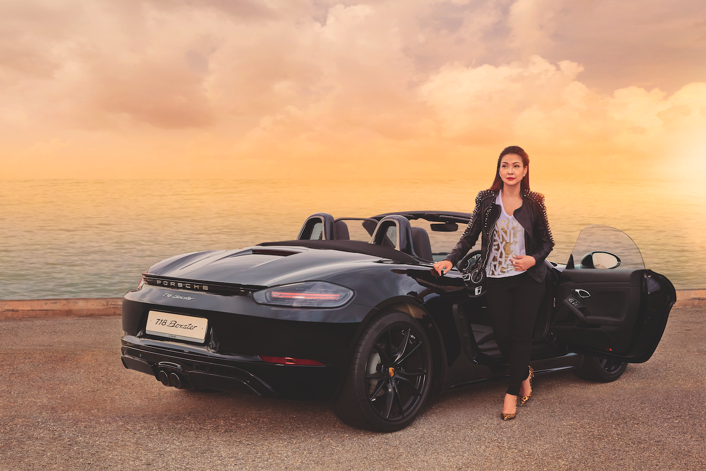 Living In The Fast Lane: MTM Skincare's Kelly Keak Meets The Porsche 718 Boxster