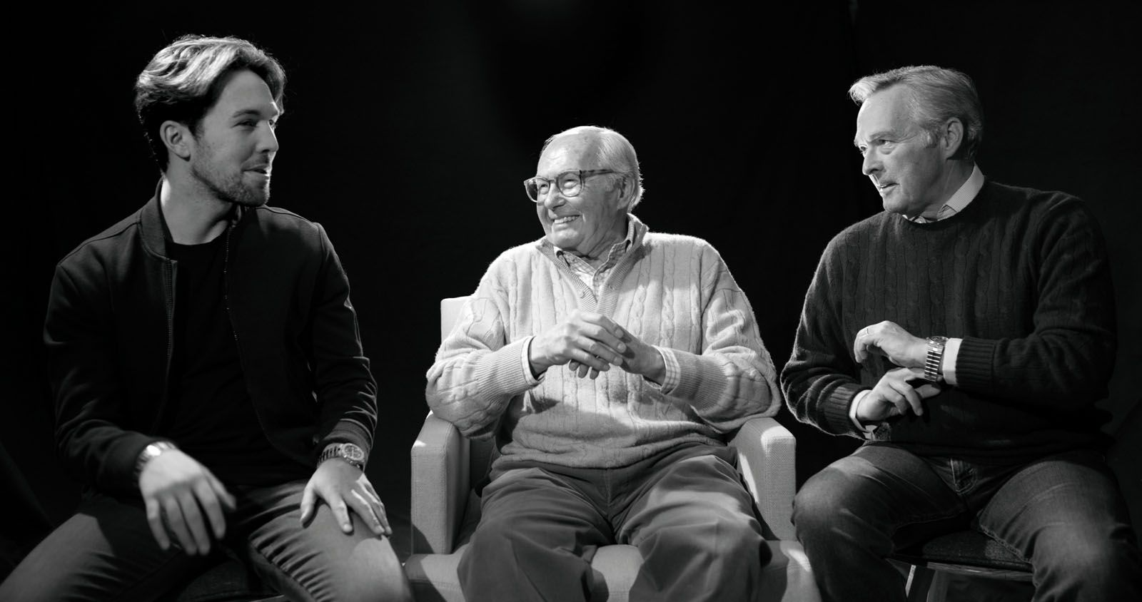 Karl-Fritz Scheufele (pictured left) first pitched the Alpine Eagle project to his father (above right) and later, his grandfather (centre), four years ago