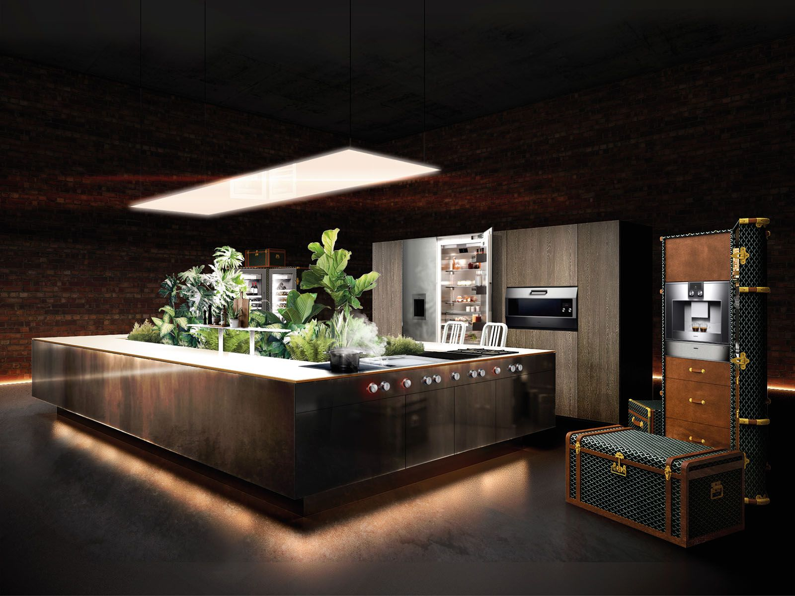 A Kitchen Island Integrated With An Indoor Garden? Even Better, You Can Fit It In An Apartment