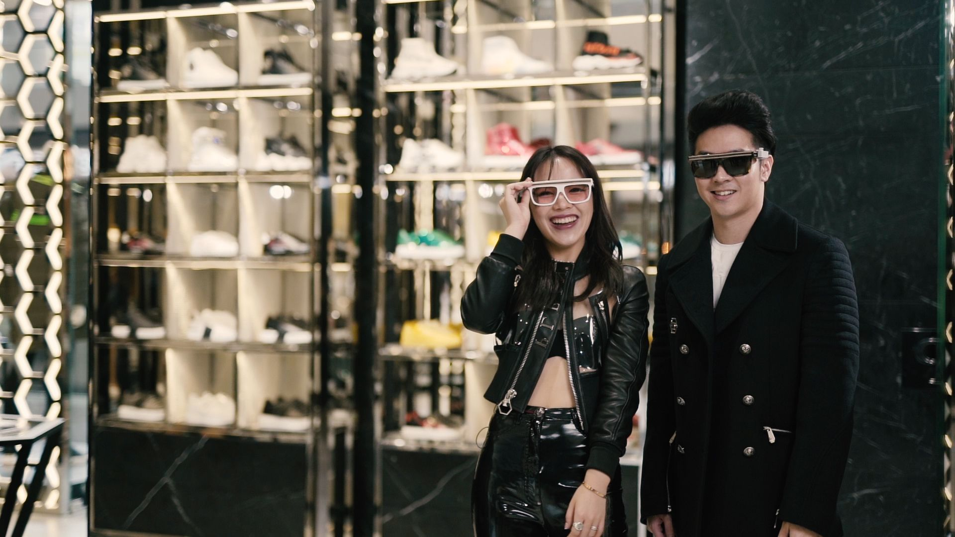 Watch: Chloe Ng and Maverick Mok Shop At The Philipp Plein Boutique Before Heading Out To Party