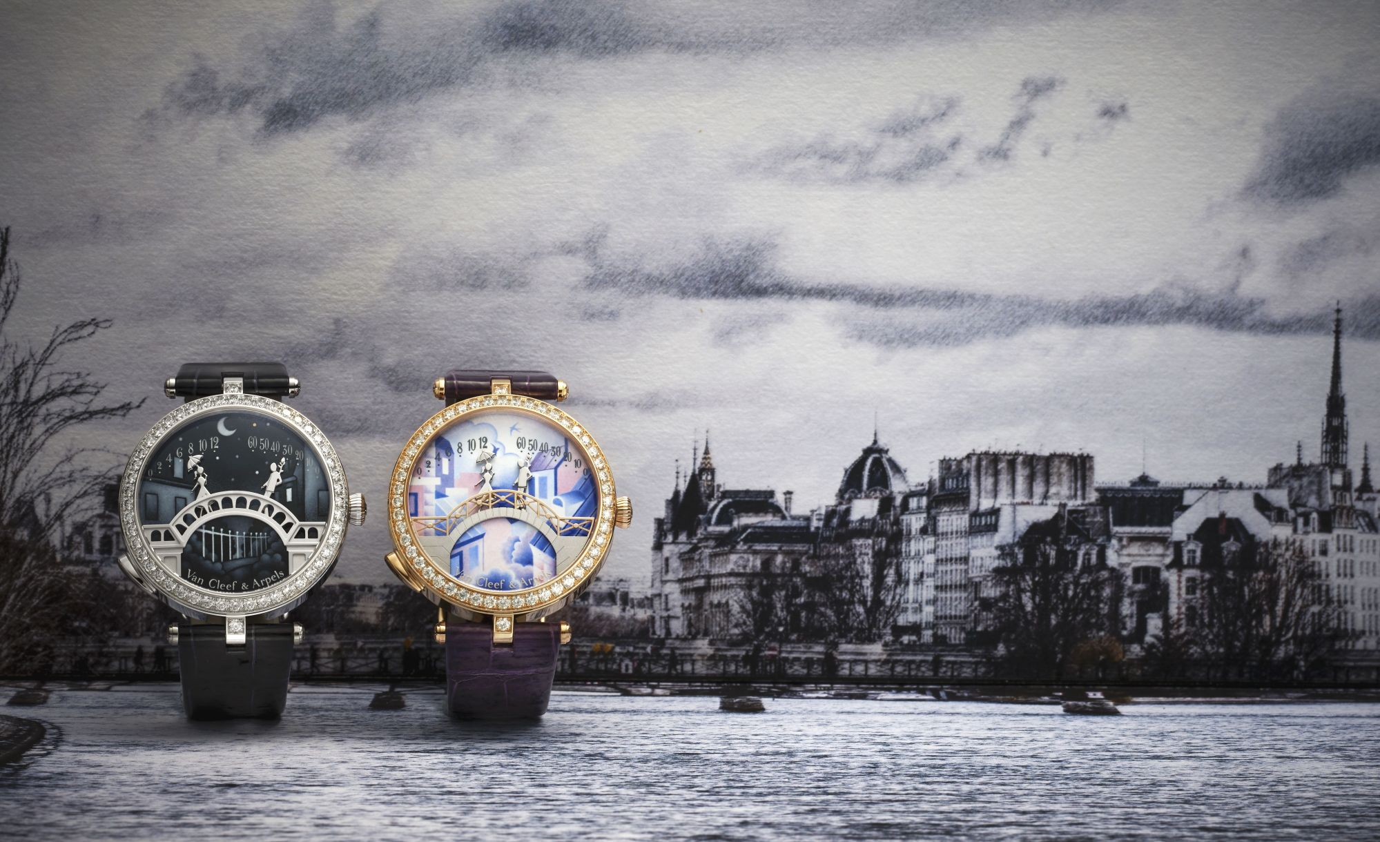 Van Cleef & Arpels Breathes New Life Into The Iconic Lady Arpels Pont Des Amoureux Watch In Its Poetry Of Time Collection