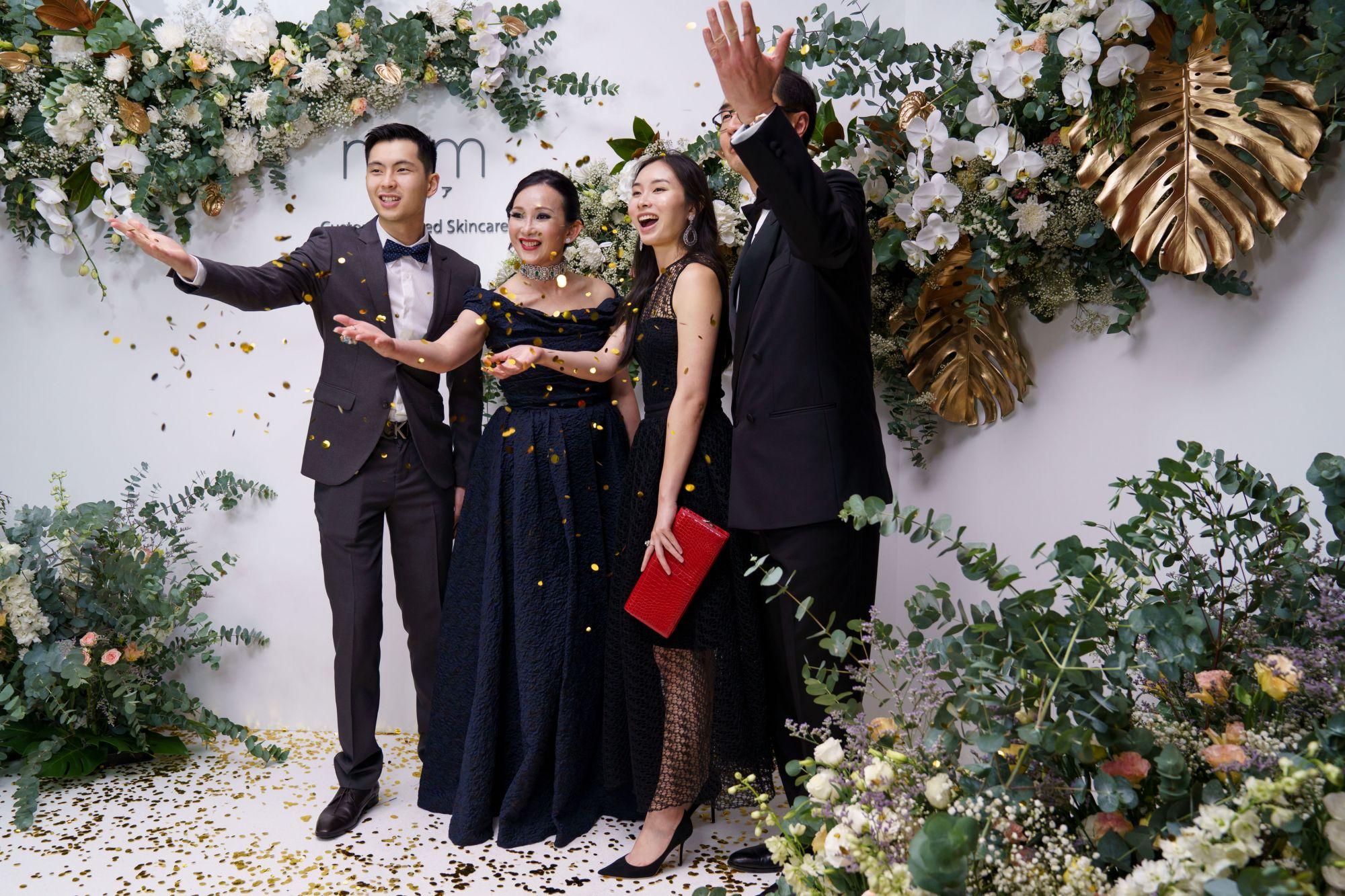 Nicholas Heah, Caroline Low-Heah, Elizabeth Heah, Heah Sieu Min