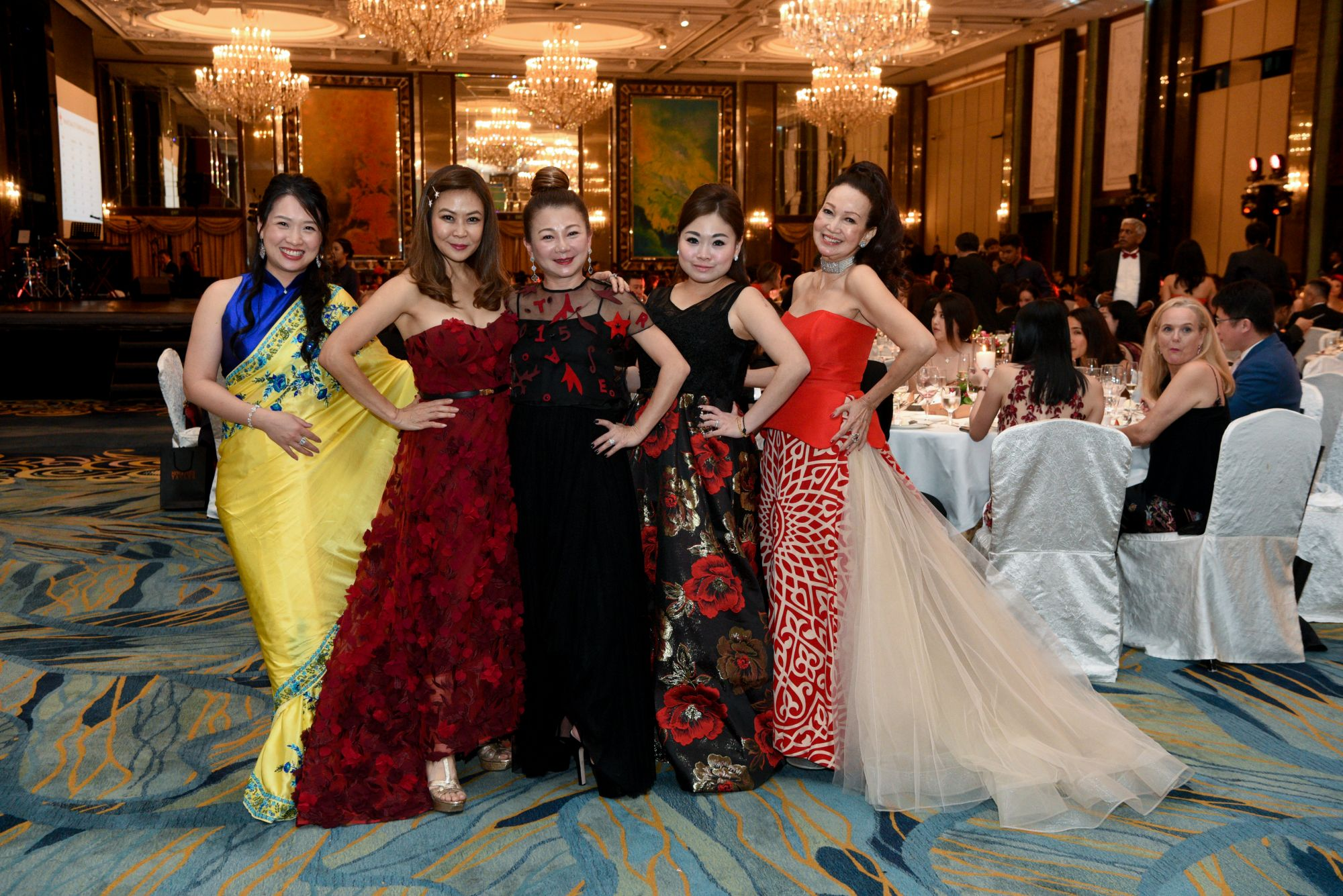 Lisa Gwee, Alicia Thian, Angela Ng, Vivian Ang, Celeste Basapa