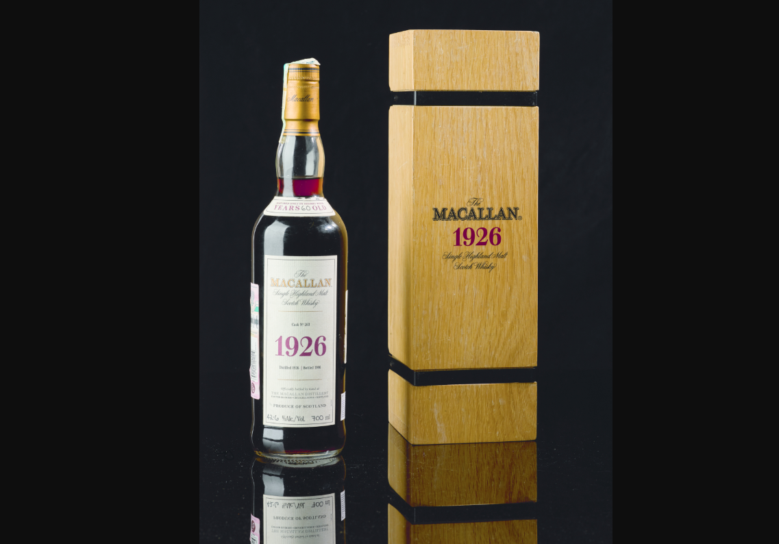 Macallan 1926 Whisky Sells For A Record £1.5 Million At Sotheby's Auction