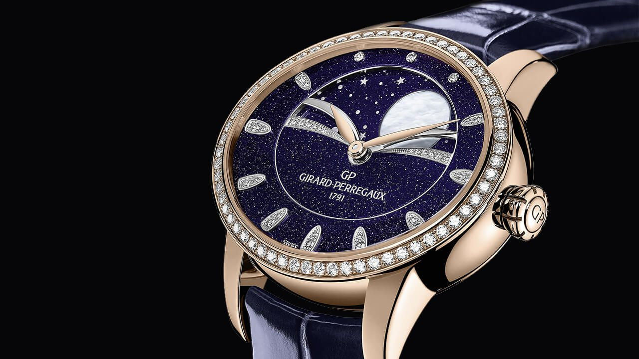Girard-Perregaux's Iconic Cat's Eye Watches Turn Deep Blue