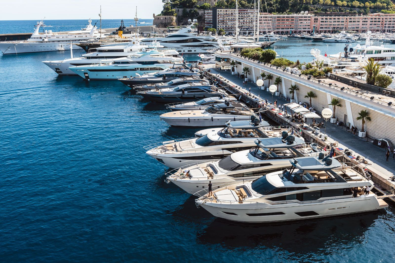 More than 25 yachts were showcased at the Ferretti Group's by invitation-only preview in Monaco this year