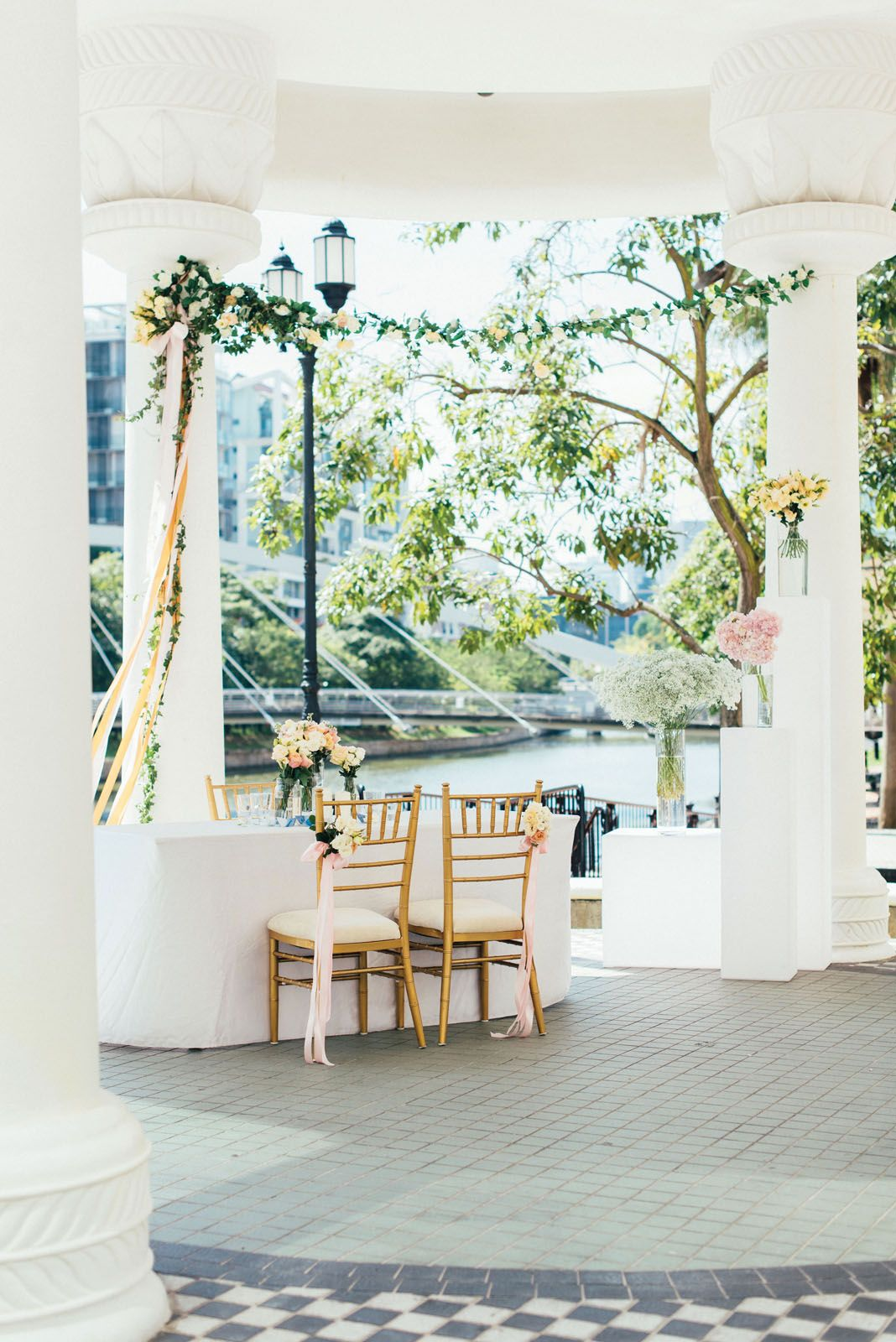 """With a pavilion on the riverbank, saying """"I do"""" by the Singapore River is possible at Grand Copthorne Waterfront Hotel"""