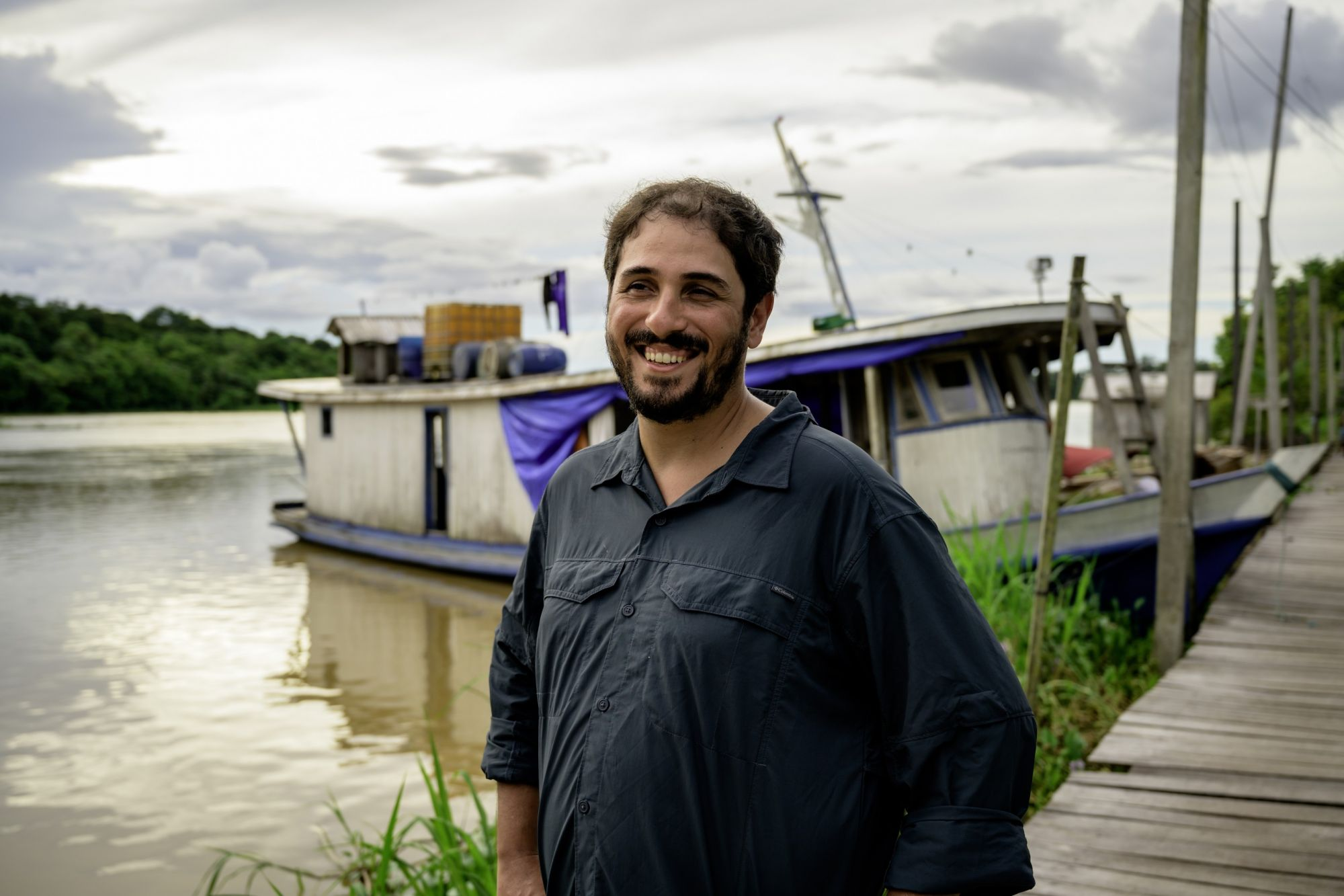João Campos‐Silva at Uacari, a sustainable development reserve in the Amazon