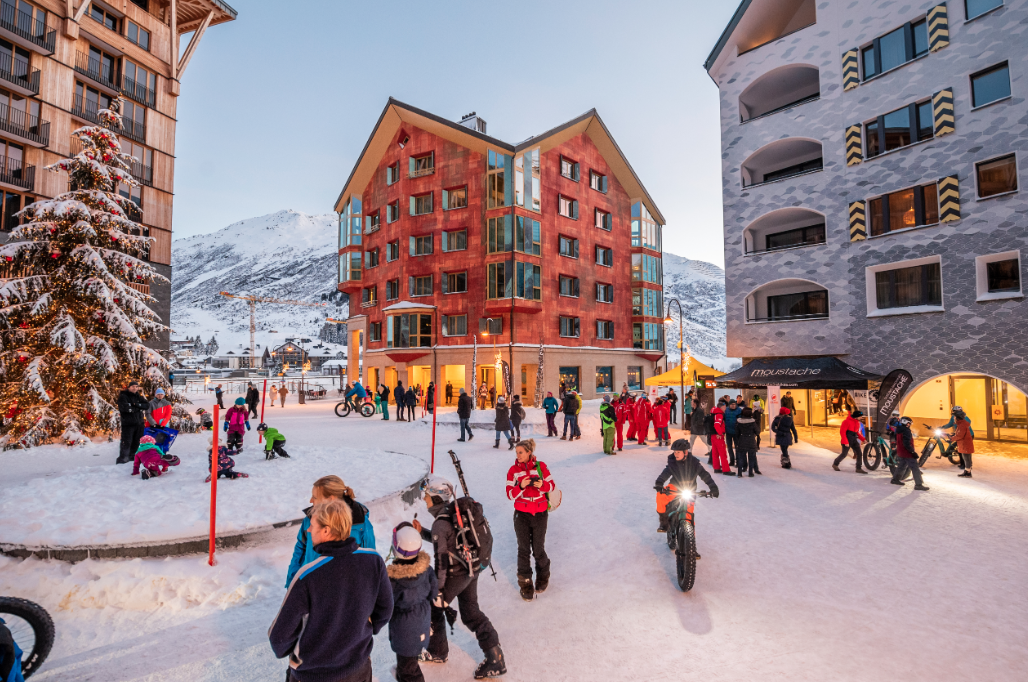 The village of Andermatt has a toy-town vibe