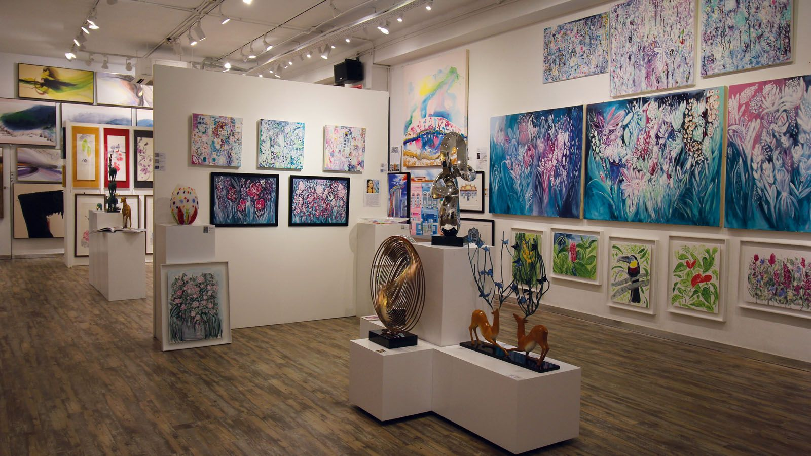 Living with Art showcases a wide array of art by local talents and artists from around the world