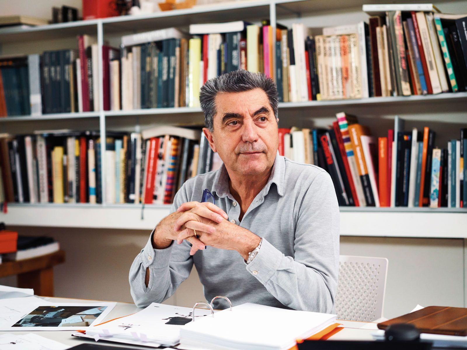 Italian architect Antonio Citterio in his office in Milan
