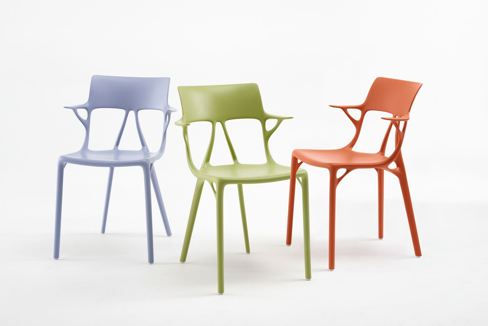 The Kartell A.I chair was created by Autodesk generative design software using creative input from Starck