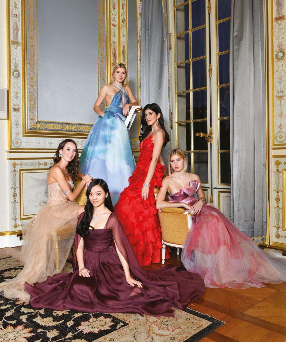 Clockwise from top: Victoria Iglesias, Shanaya Kapoor, Cristina Iglesias, Jane Li and Araminta Mellon