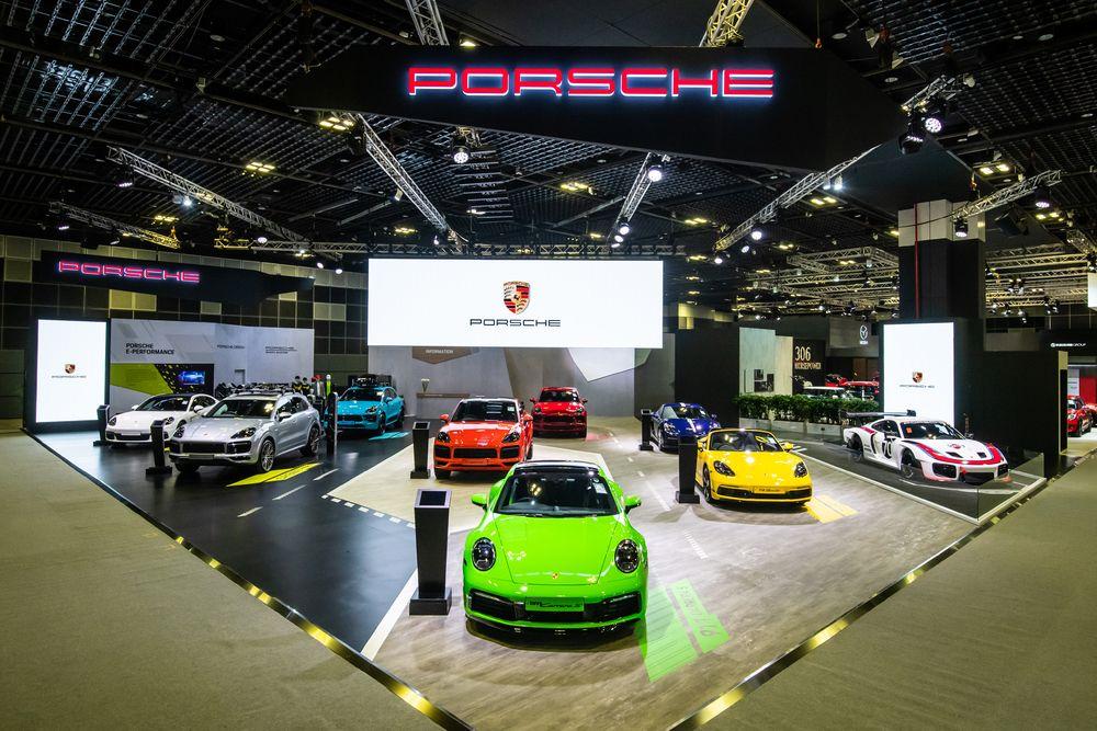 Porsche showcase at the Singapore Motorshow 2020