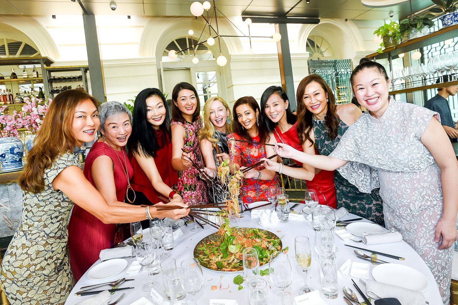 Patricia Yuen, Lim Chiwen, Maisy Koh, Nana Au-Chua, Paige Parker, Iroshini Chua, Lynn Yeow-De Vito, Trina Liang-Lin, Ruth Yeoh