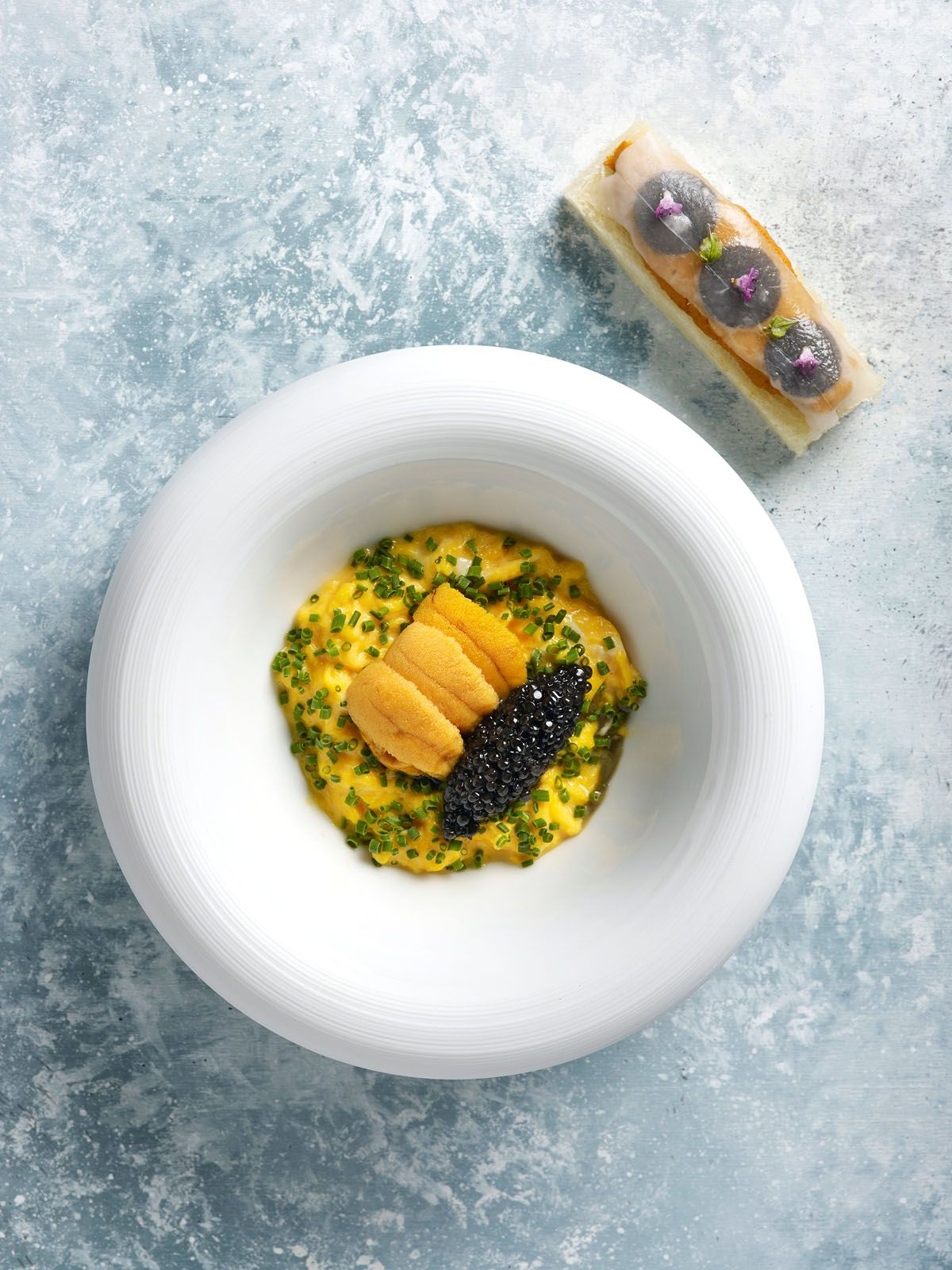 Scrambled eggs with sea urchin and Calvisius caviar from Buona Terra
