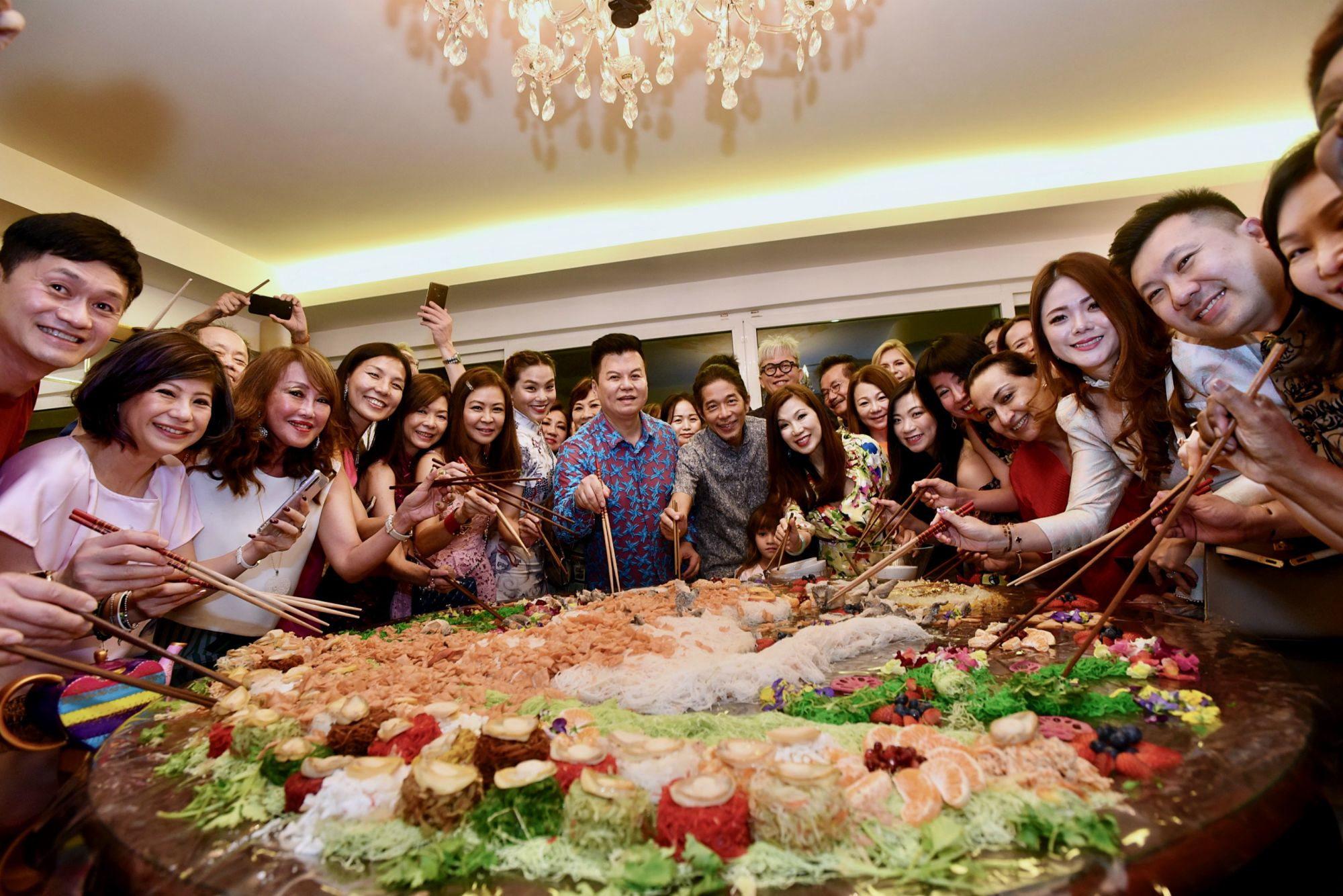 Susan Peh's Jazz-Themed Chinese New Year Dinner Featured A Spectacular Homemade Yusheng