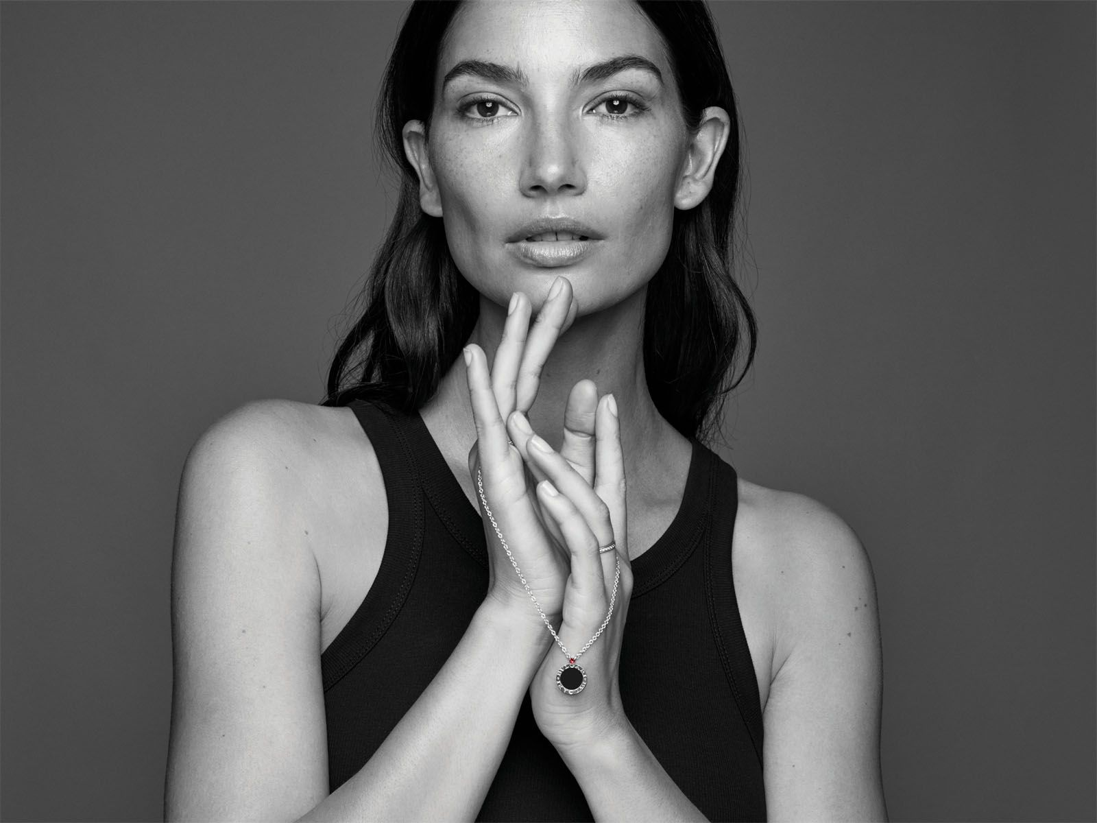 American model Lily Aldridge features in the #GiveHope campaign