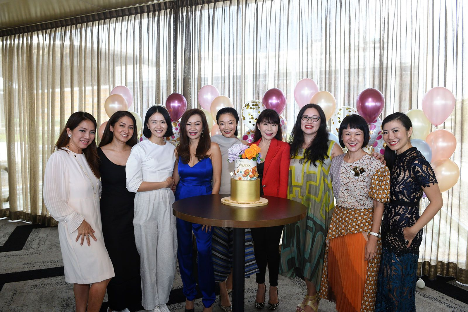 Tan Sushan, Priscilla Shunmugam, Dawn Ng, Trina Liang-Lin, Maisy Koh, Diane Palmer, Valerie Ong, Janice Koh, Jaelle Ang
