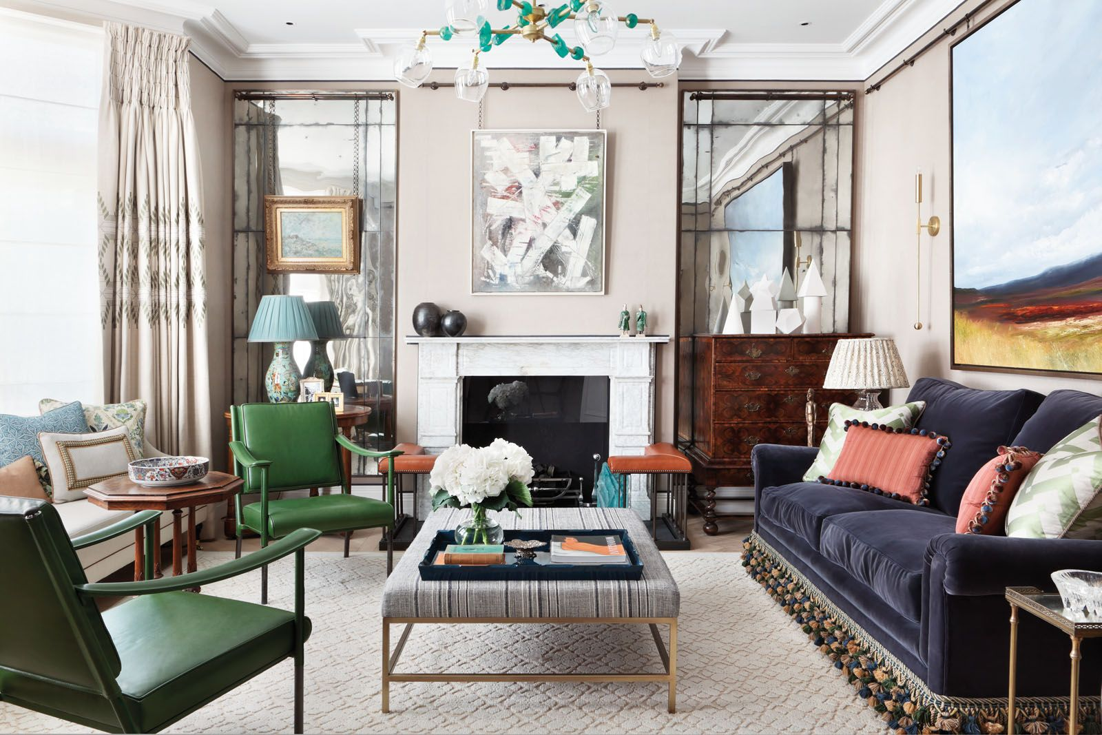 Home Tour: A Modern London Townhouse Featuring Colourful Art And Vintage Pieces
