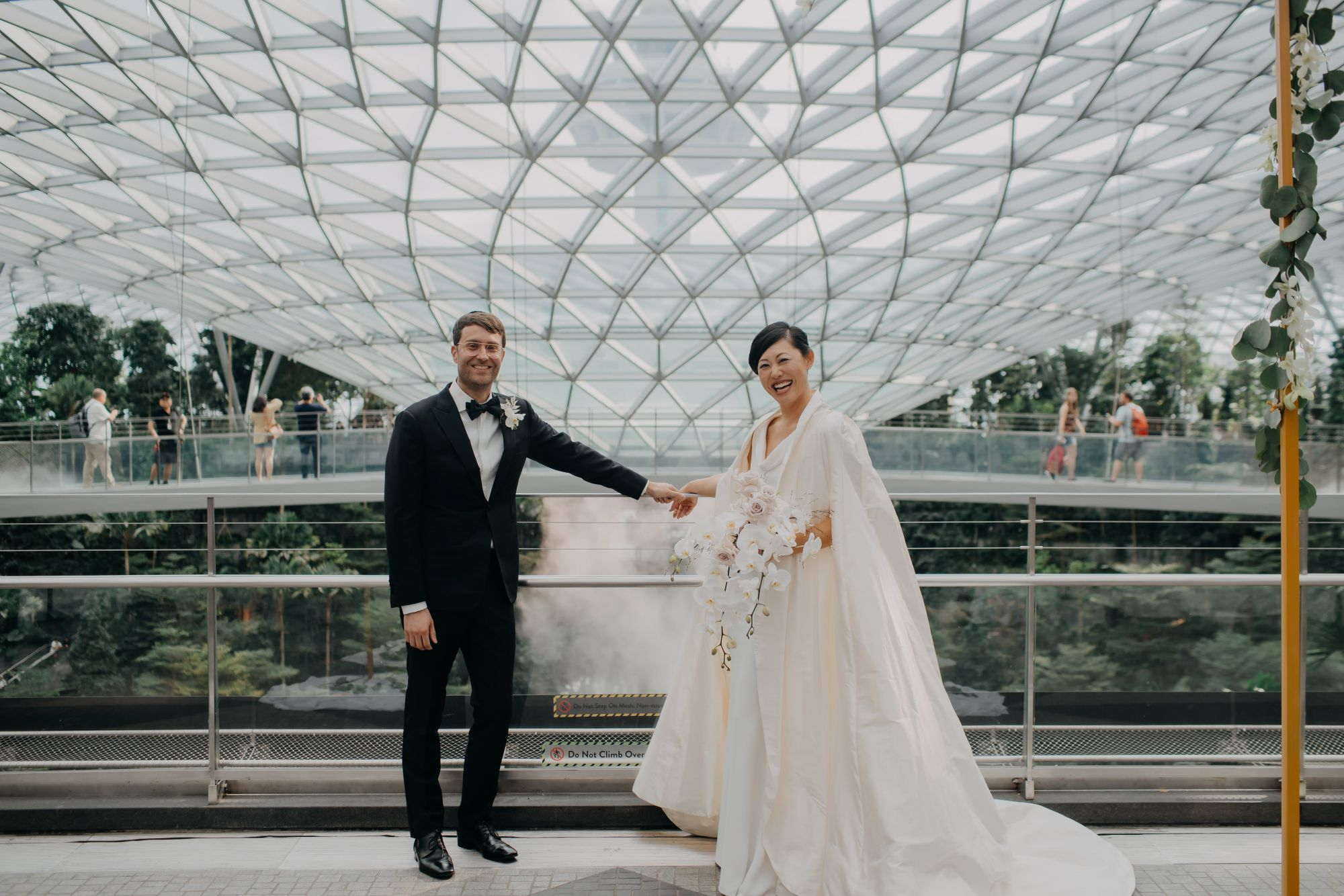 A Wedding that Took Place at Two Iconic Buildings In Singapore: Jewel Changi Airport and Marina Bay Sands