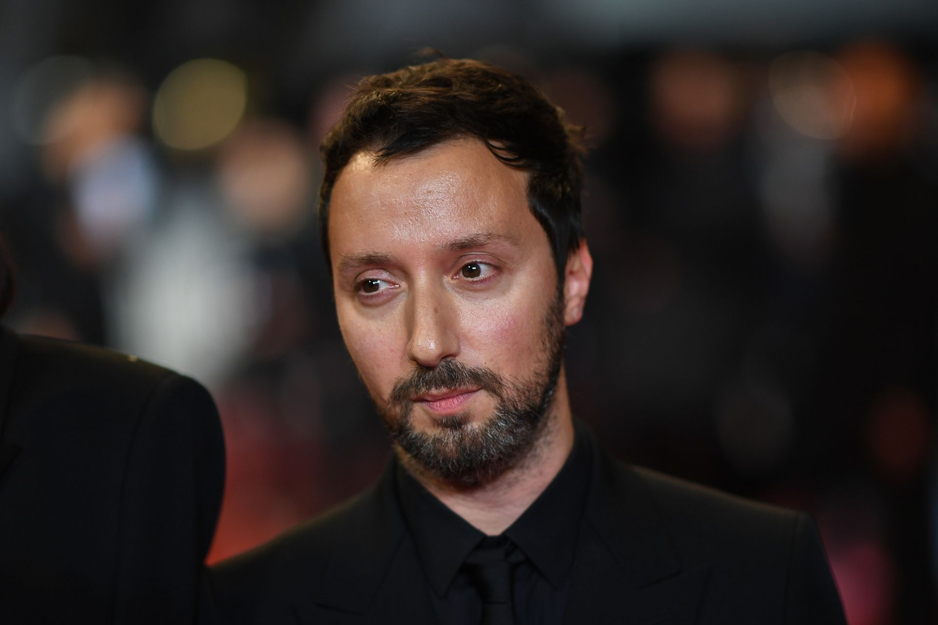 "Belgian stylist and producer Anthony Vaccarello arrives for the screening of the film ""Lux Aeterna"" at the 72nd edition of the Cannes Film Festival in Cannes, southern France, on May 18, 2019. (Photo by LOIC VENANCE / AFP)"