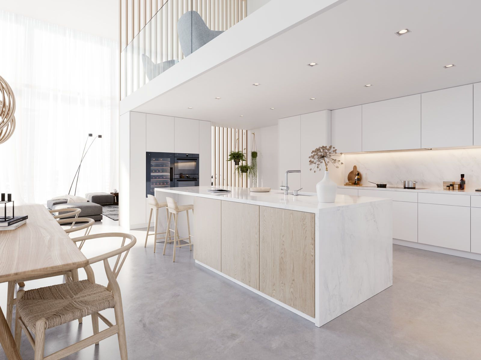 The streamlined designs of V-Zug appliances fit seamlessly into various interior schemes