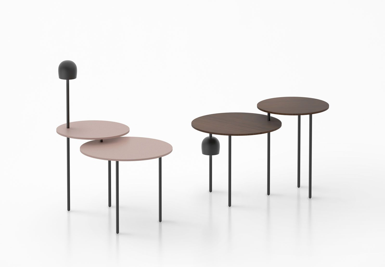 Flos Haeru table and lamp collection by Nendo, from Space Furniture