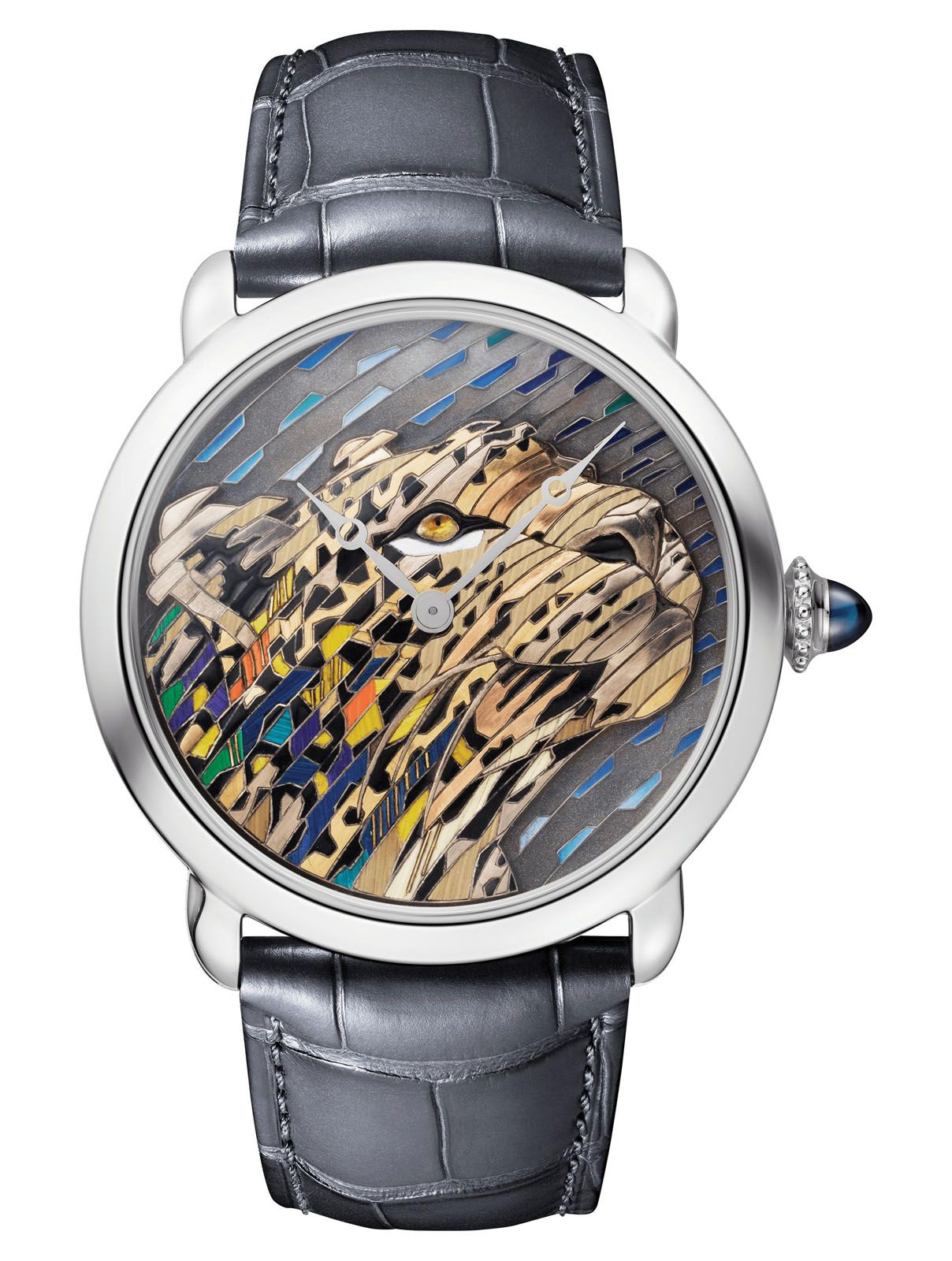 On How The Intricate Ronde Louis Cartier Straw And Gold Marquetry Watch Is Made