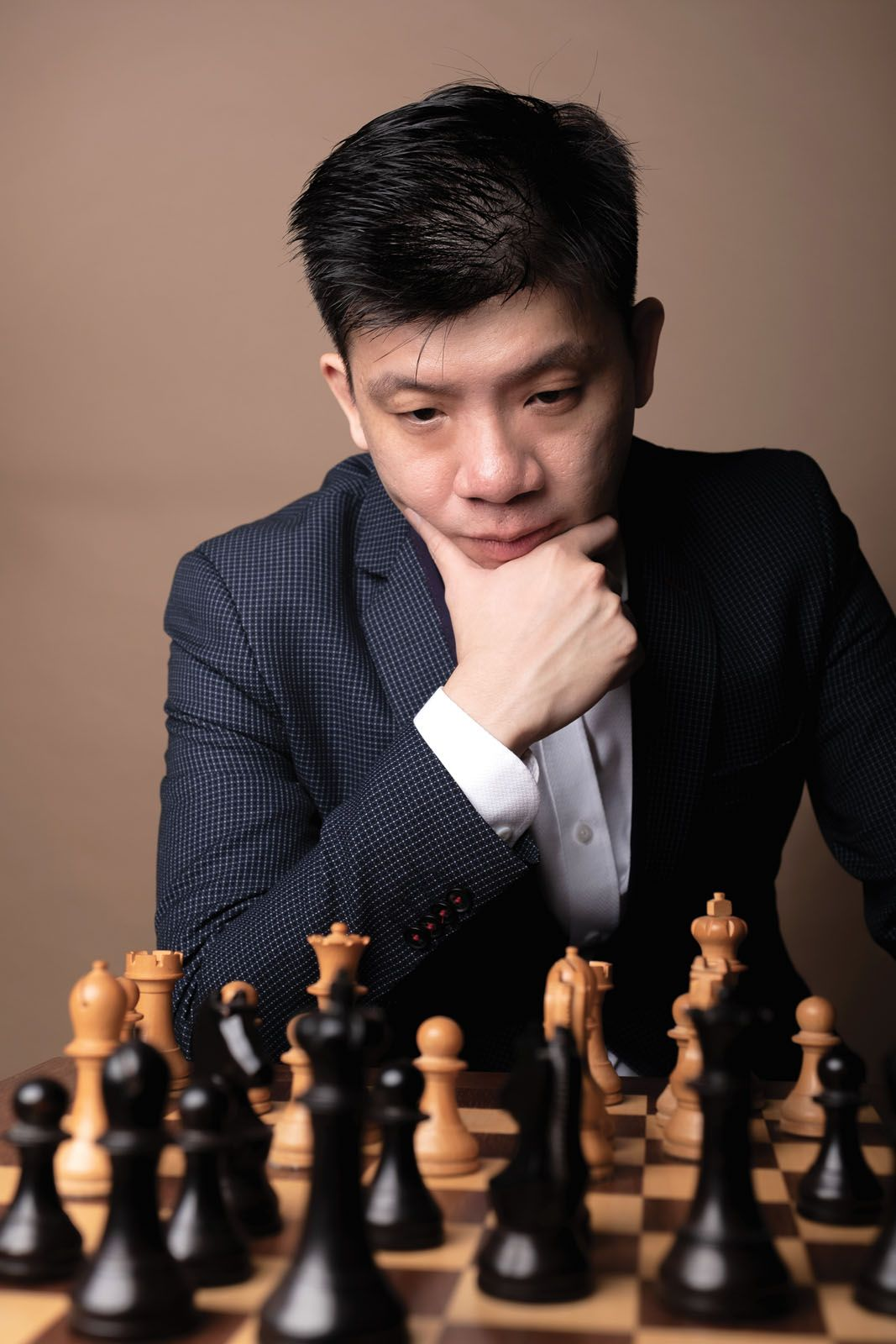 A typical training day for Singapore's chess grandmaster Kevin Goh begins with an hour-long run followed by a series of chess puzzles for two hours, before moving on to theoretical training (image by James Boban)