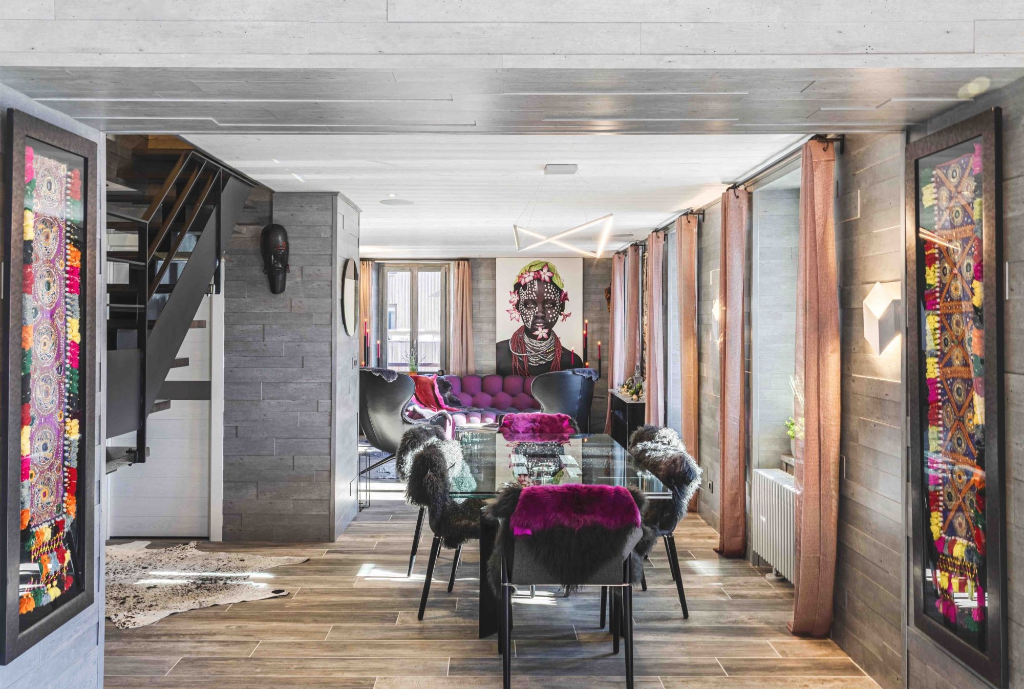 Home Tour: A Modern Penthouse In The French Alps