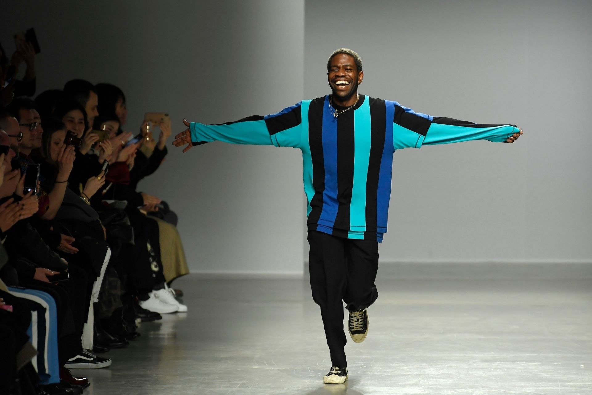 Mandatory Credit: Photo by WWD/Shutterstock (10564594au)Kenneth Ize on the catwalkKenneth Ize show, Runway, Fall Winter 2020, Paris Fashion Week, France - 24 Feb 2020