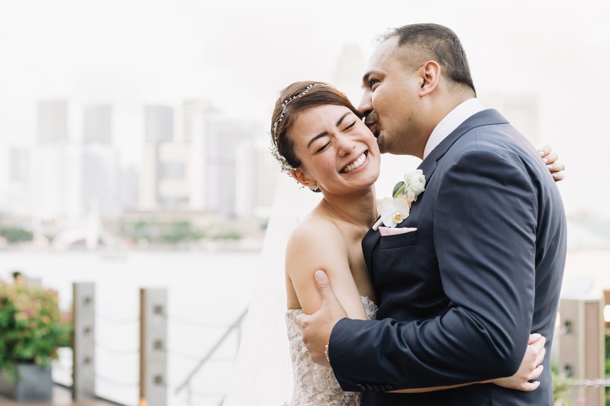 This Australian-Japanese Couple Incorporated Elements of Their Cultures into Their Singapore Wedding