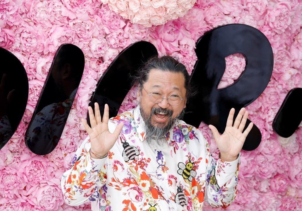 Japanese artist Takashi Murakami attends the Dior Men's Spring/Summer 2019 fashion show on June 23, 2018 in Paris. (Photo by FRANCOIS GUILLOT / AFP)