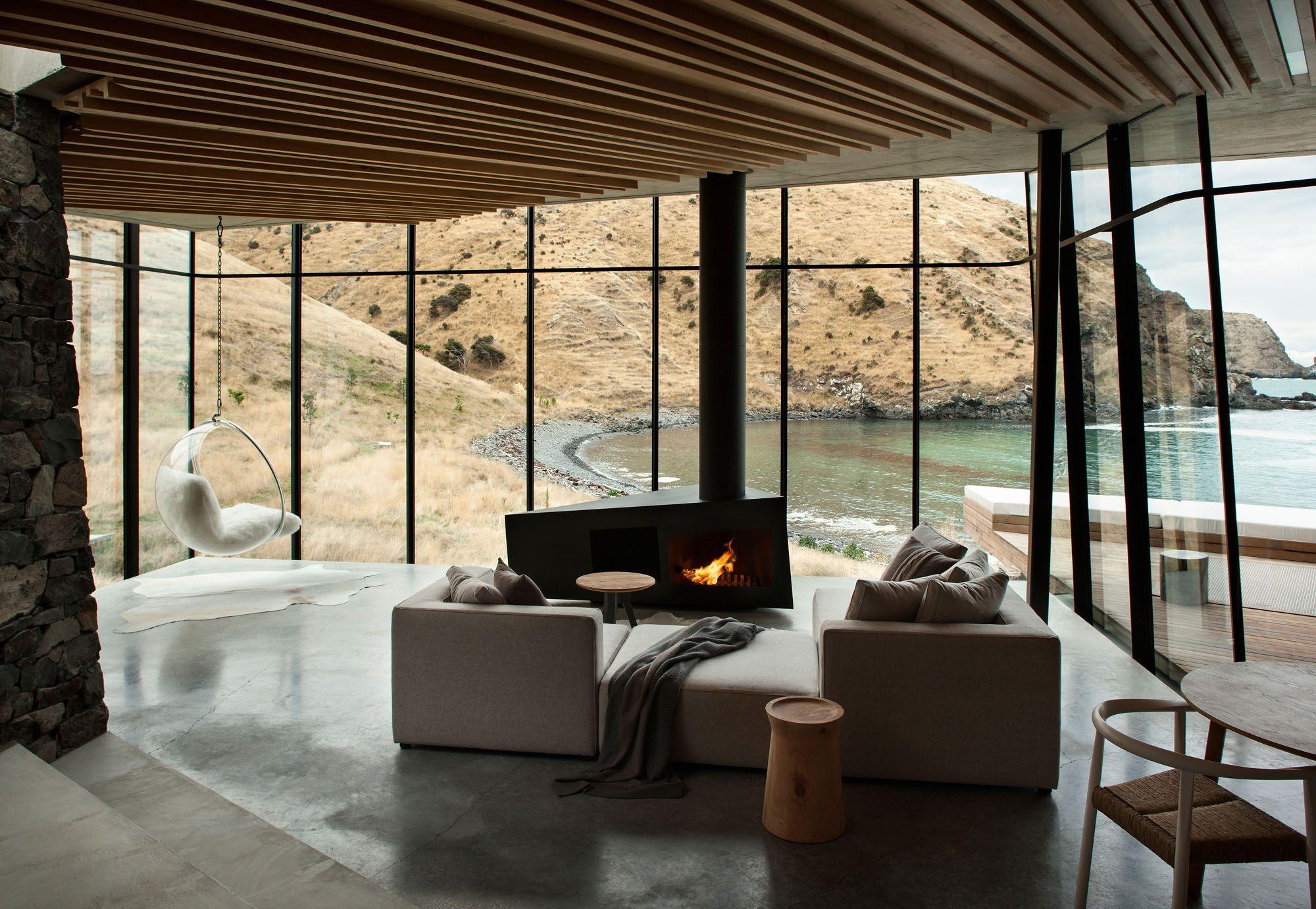 坐落在紐西蘭景致壯麗的鴿子灣、時尚摩登的木屋旅店Annandale(圖片來源:Mr&Mrs Smith)