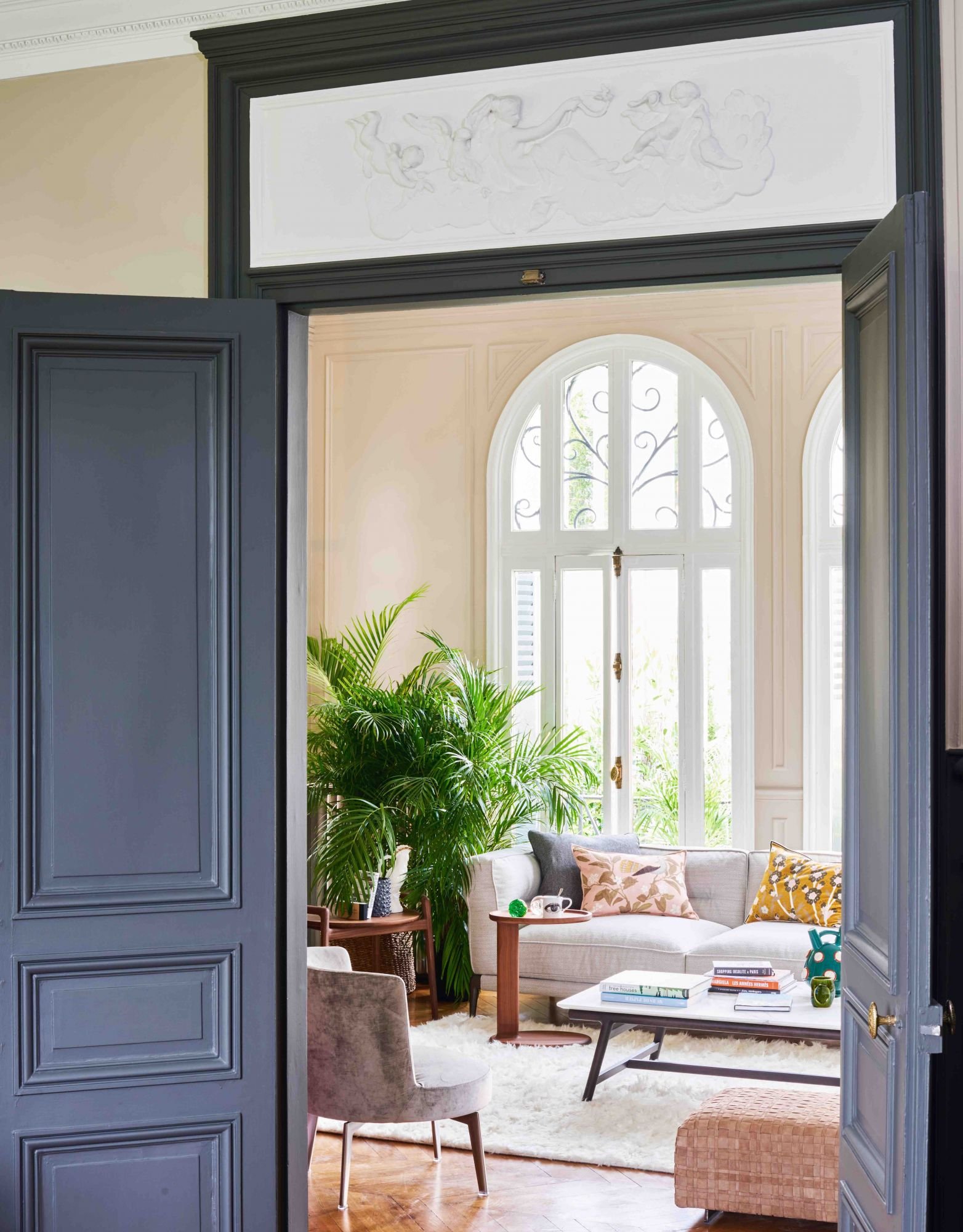 Home Tour: Colourful Details Give This Historic French Villa A Modern Twist