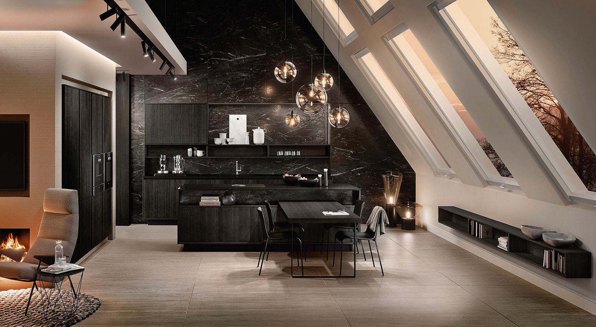 The Pure collection by SieMatic from W. Atelier features a slender 2cm frame that formsa graphic edge