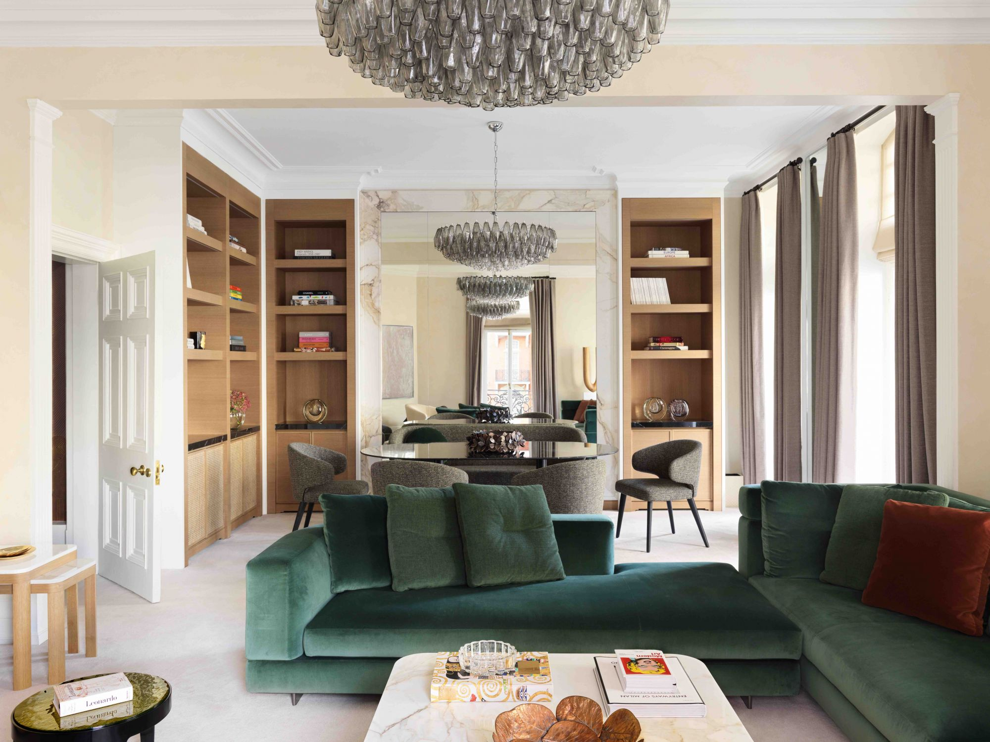 Home Tour: Gold Wallpaper Adds Instant Glamour To This London Apartment
