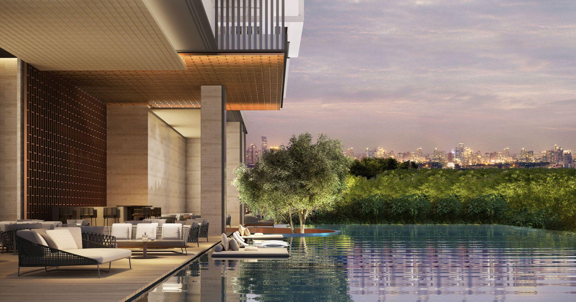 Aman Nai Lert Bangkok, Thailand - Hotel Pool render